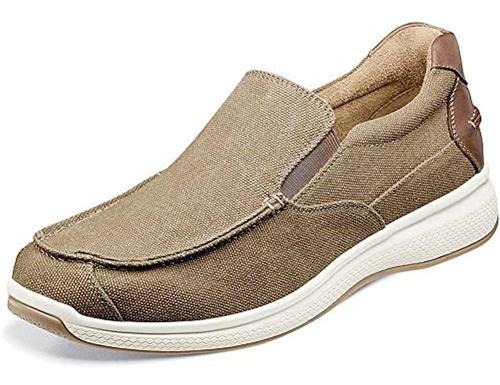 Zapatos Sin Cordones De Lona Con Punta De Mocasin De Los Gr