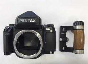 Cam. Pentax 67 Ii C/ Grip Madeira 120mm, 6x7, Último Modelo