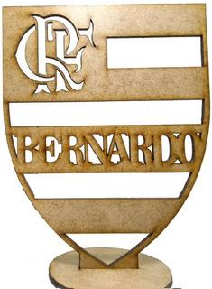 20 Centros De Mesa Flamengo Mdf Festa Enfeite Decoração