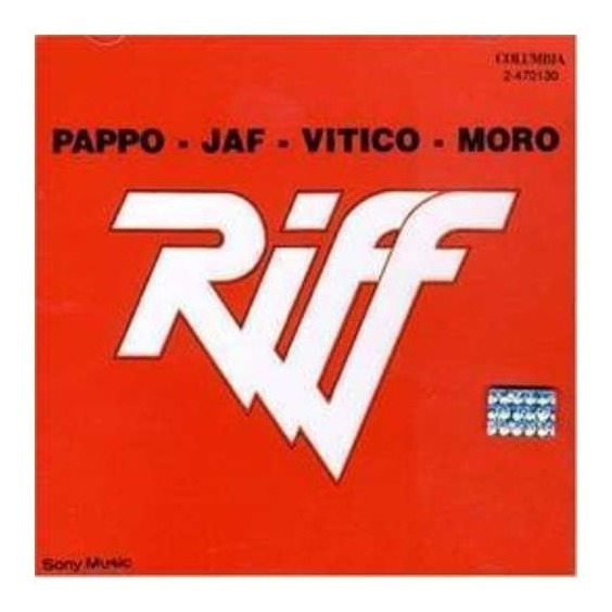 Riff Pappo-jaf-vitico-moro Cd Nuevo