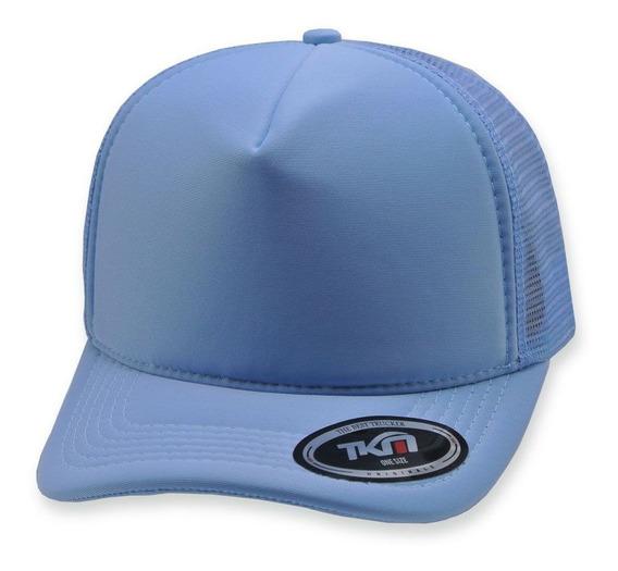 Boné Aba Curva Tkn Trucker Azul Bebê
