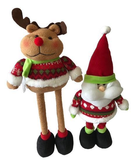 Muñeco Navidad Patas Largas X2 50 Cm