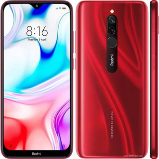 Xiaomi Redmi 8 Dual Sim Vermelho 3gb-32gb +capa+pelicu/vidro