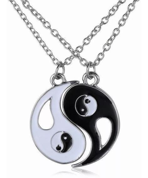Tai Chi Ba Gu Yin Yang Colgante Pareja Collar