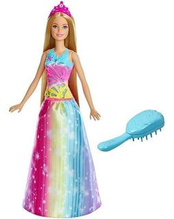 Muñeca Barbie Peina Y Brilla Con Accesorios Luces Y Sonidos