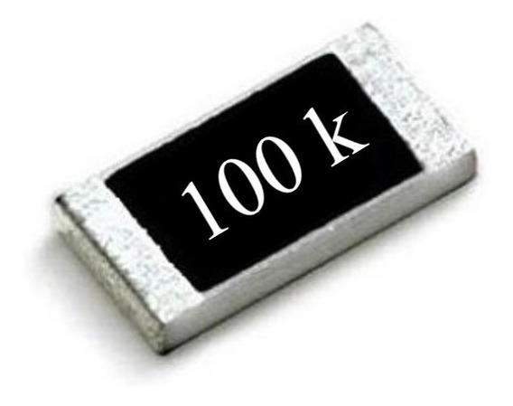 Resistor Smd 0603 ( Kit C/ 25 ) 100k Ohms Panasonic (1,6mm X 0,8mm) 1/10w