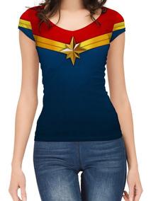 Remera Capitana Marvel Full Print