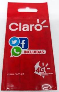 Sim Card Celulares Redes 4g Lte Claro Prepago