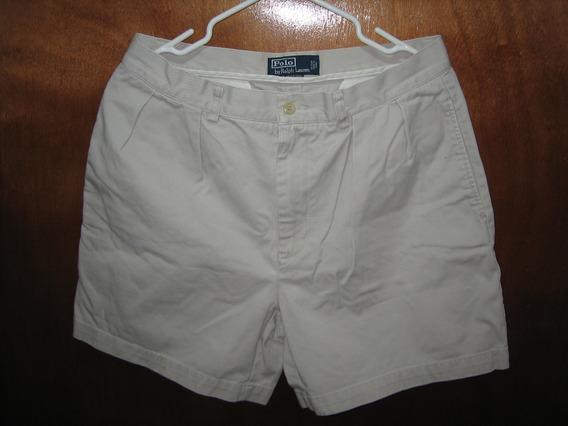 Bermuda Short Beige Polo Talla 33 Original Importado