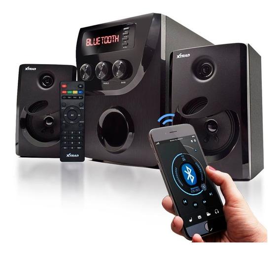 Caixa De Som Micro System Bluetooth Com Subwoofer Usb Fm Sd