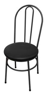 Cadeira Milk Cozinha Metal Aço Tubolar Redonda Almofadada