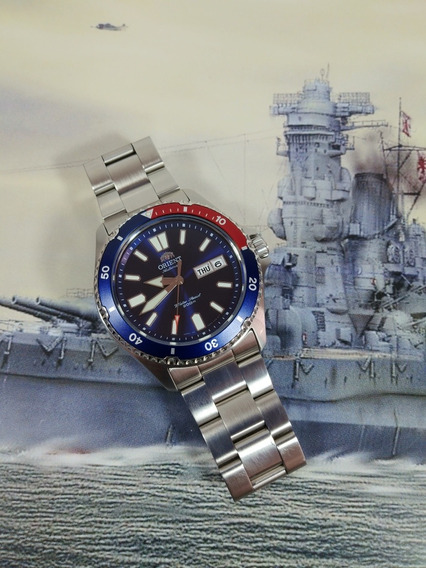 Reloj Orient Mako Usa Ll Pepsi Mod