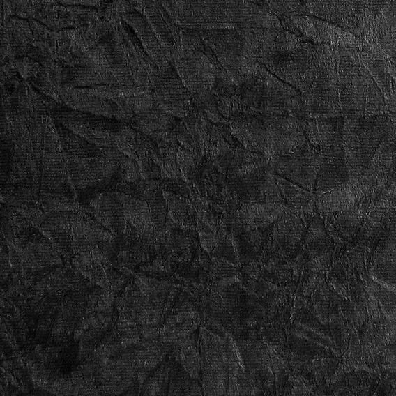 Tecido Para Tapeçaria Suede Amassado Preto 1m X 1,40m