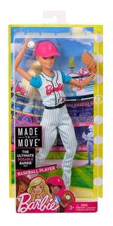 Barbie Movimientos Deportivos Beisbolista Dvf68 E. Full