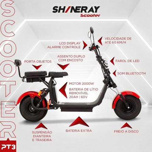 Scooter Elétrica Shineray Pt3