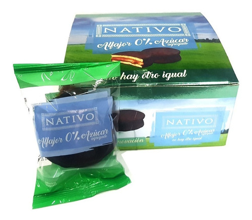 Alfajor Chocolate Nativo Cero X8u