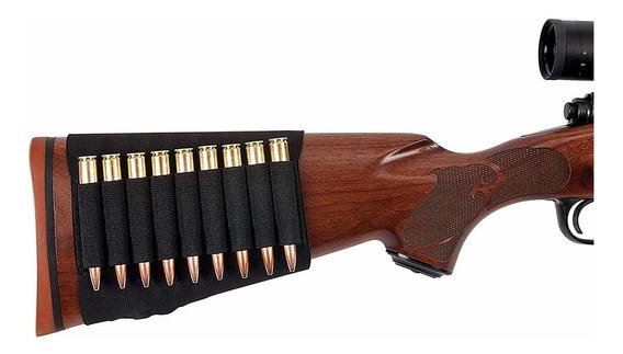 Porta Cartuchos Para Rifle En Culata Funda Elastica Tiro