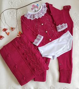 Saída Maternidade Tricô Pink