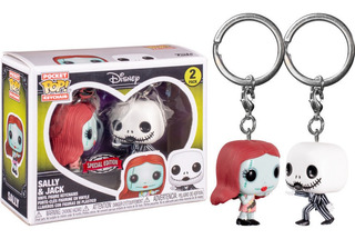 Pack Doble Llaveros Funko Pop! Jack Skellington Y Sally