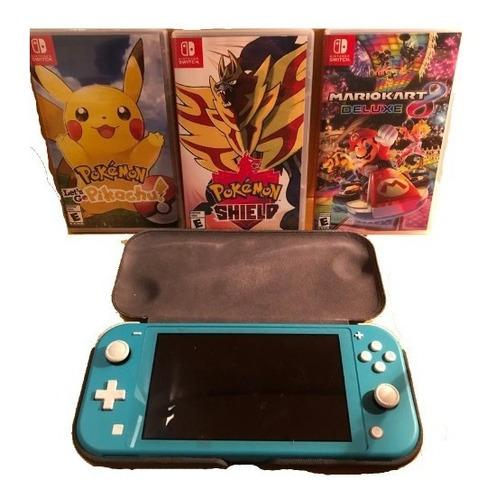 Nintendo Switch Lite, Con Funda Protectora Y 3 Juegos