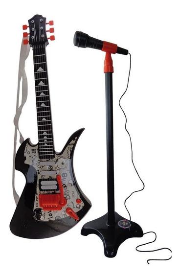 Guitarra Con Microfono De Pie Sonidos Reales Original