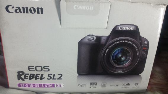 Câmera Canon Sl2 +cartão Memória 64gb + 3 Lentes + C Log