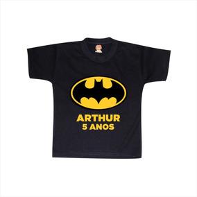 Camiseta Infantil Batman Aniversário Festa Personalizada