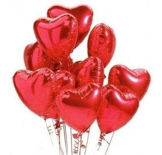 500 Balão Metalizado Coração 14cm - Promoção Atacado Balões