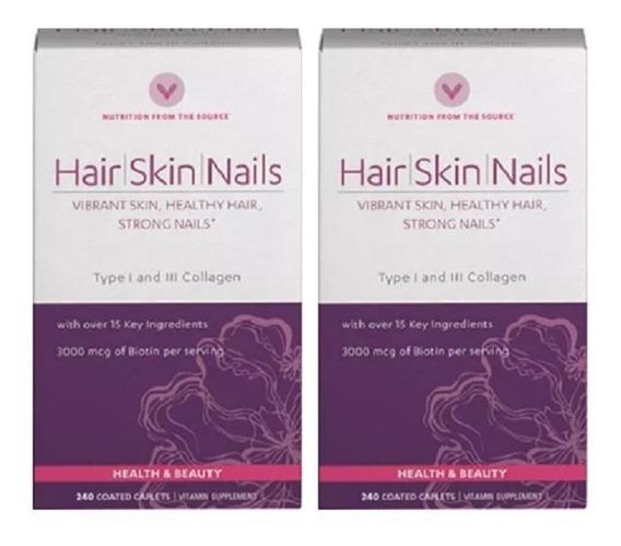 Hair Skin Nails Vitamin World 240 Pastillas - Antioxidantes