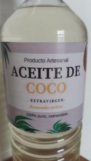 Aceite De Coco Comestible, Sin Aditivos, Puro.