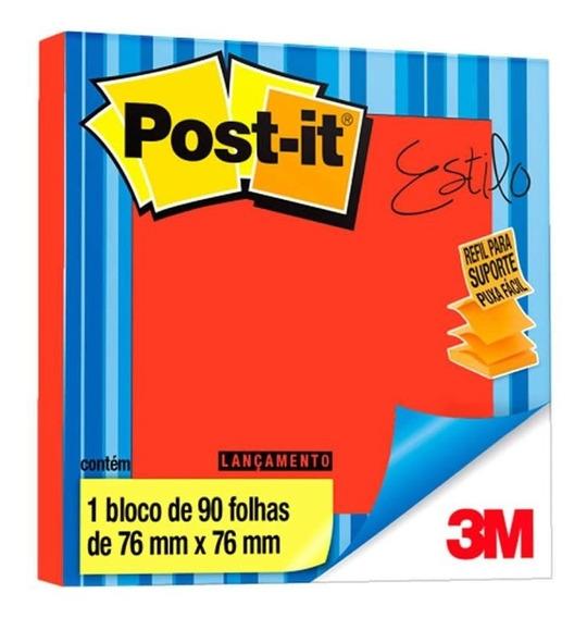 Post-it 654 76mm X 76mm Vermelho Telha 90 Folhas 3m 24027