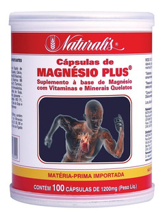 Magnésio Plus (1200mg) 100 Cápsulas - Naturalis | Promoção!