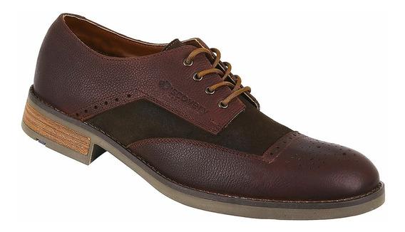 Zapato De Piel Discovery Ds2012 Color Café. Hombre