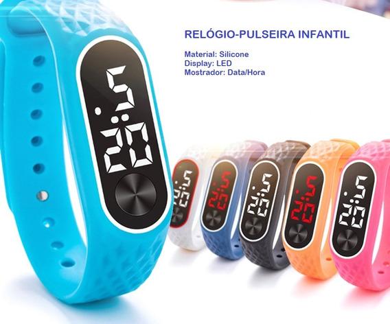 Relógio / Pulseira Infantil - Diversas Cores