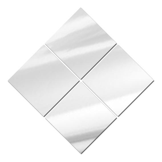 Espelhos De Vidro Decorativos Diagonais 95 X 95 Cm