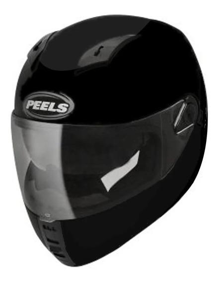Capacete Moto Peels Icon Classic Preto Fosco Com Óculos Interno Fumê