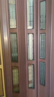 Puertas Plegadizas De 80 Pvc Reforzadas.1/2 Vidrio