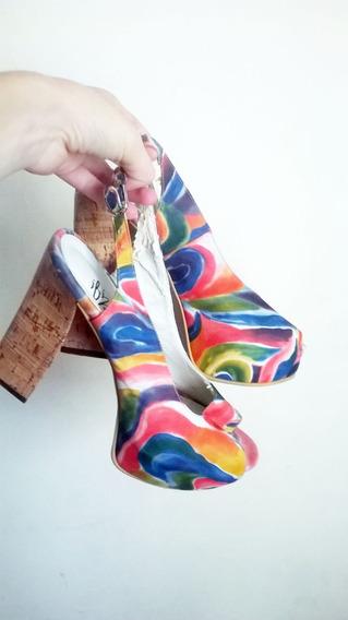 Zapatos Multicolor Sin Puntera