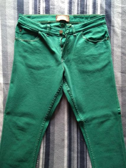 Pantalón Verde De Jean Zara Hombre
