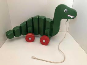 Brinquedo Educativo Dinossauro Em Madeira Articulado