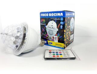 Foco Bocina Disco Nuevo Con Bluetooth Megaluz