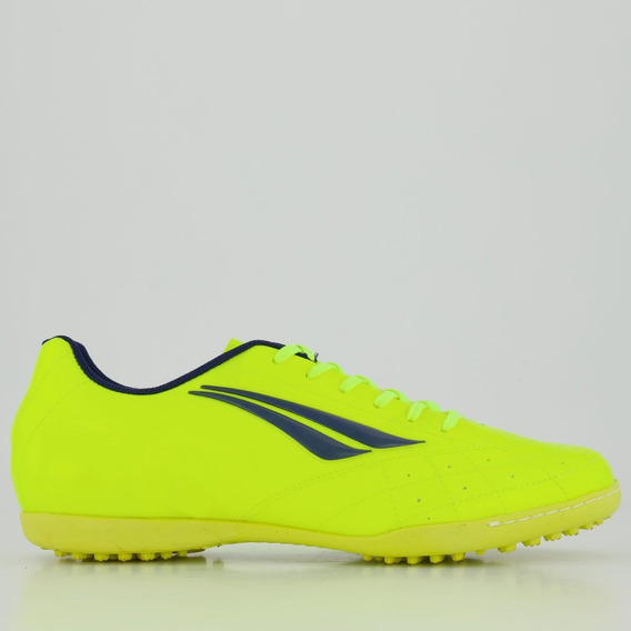 Chuteira Penalty Fúria Xx Society Amarela E Azul