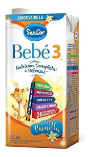 Leche de fórmula líquida Mead Johnson SanCor Bebé 3 sabor original brick 1L