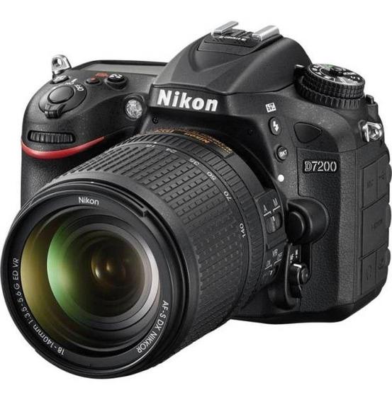 Câmera Profissional Nikon D7200 + Lente 18-140mm