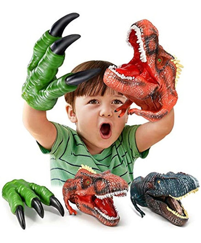 Imagen 1 de 6 de Juguetes De Dinosaurio De Mano, Garras