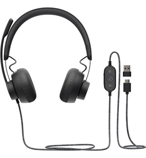 Headset Logitech Zone Wired Auricular Mic Usb Skype Zoom