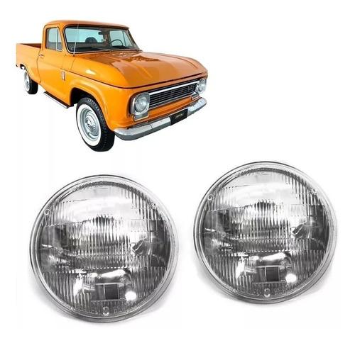 Farol+lampada Chevrolet D10 D60 C10 D10 Até 1984 Par Milha