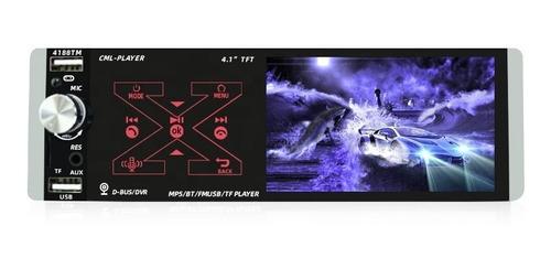 Estéreo Multimedia Infinity Tech 1 Din 4.1 Bt Mp5 Usb Fm
