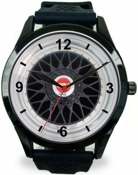 Relógio Pulso Esportivo Roda Bbs 17 Preta Gol G3 G4 G5 G6 Saveiro Surf, Gol Gti Gts Gt Golf Gti Masculino Promoção