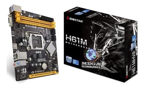 Mainboard Biostar  H61mhv2 Intel H61 Lga 1155 Ddr3 Nuevas